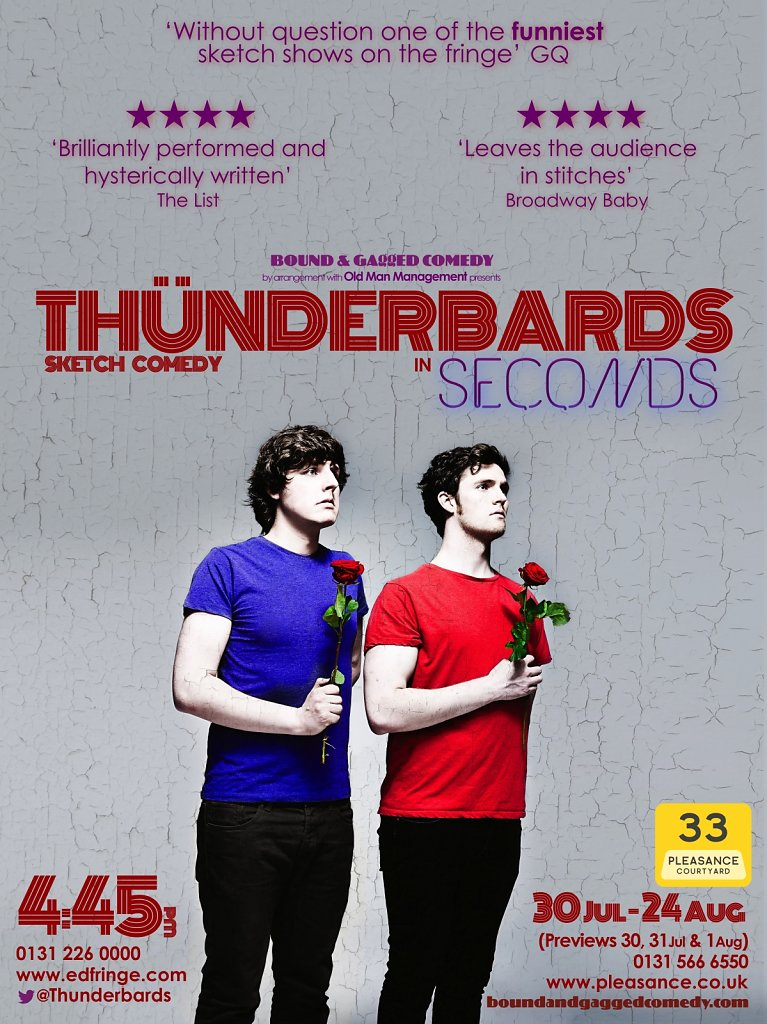 Thunderbards, Edinburgh Festival Poster